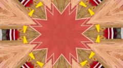 Surreal kaleidoscope. Colorful background. Electronic Music. DJ Stock Footage