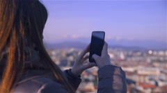 Zoom gesture on smartphone making photo 4K Stock Footage