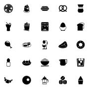 Easy meal icons on white background - stock illustration