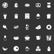 Stock Illustration of Easy meal icons on gray background