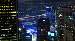 Time Lapse of LA LIVE Power Shut Off at Earth Hour 2015 Stock Footage