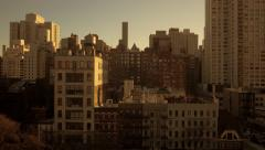 urban city lifestyle background of new york city buildings and architecture - stock footage
