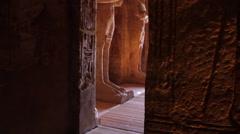 Tilt up of Statue of Osiris Stock Footage