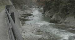 Gunma river in japan, 4k  non color graded (4000x2160) Stock Footage