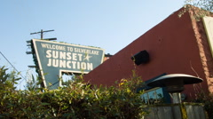 Sunset Junction neighborhood, Silverlake Los Angeles - stock footage