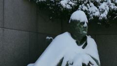 FDR memorial  in winter Stock Footage