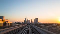 POV Time lapse - Dubai, elevated journey through the city Stock Footage