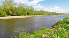 Vistula river near Warsaw, Poland Stock Footage