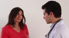 Doctor speaks to a patient - stock footage