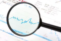 Stock Share Market Plot - stock photo