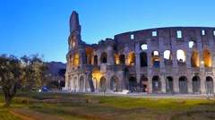 Coliseum at dawn. Rome, Italy Stock Footage