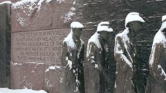 FDR memorial - stock footage