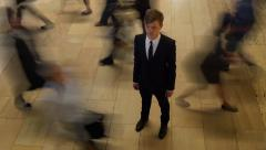 stand out of society background. young successful businessman. busy lifestyle - stock footage