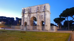 Arch of Constantine at dawn. Rome. Italy. 1280x720 Stock Footage