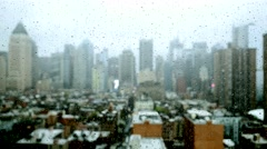 rain day in the city. rainy depressive mood. blurry rain drops background - stock footage