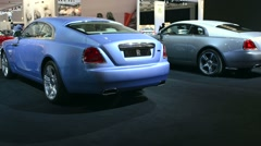 Rolls Royce Wraith luxury coupe - stock footage