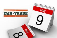 Composite image of fair trade graphic - stock illustration