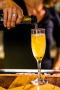 Bellini cocktail - stock photo