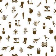 Garden seamless pattern Stock Illustration