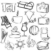 Stock Illustration of relax doodle images
