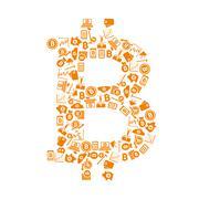 Bitcoin symbol Stock Illustration