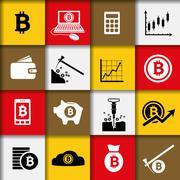 Bitcoin icons Piirros