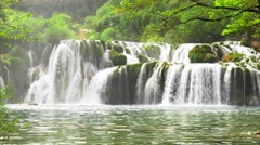 Waterfall KRKA in Croatia - nature background - stock footage