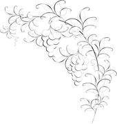 Black and white pattern of branches with grapes. EPS10 vector illustration Stock Illustration