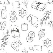 Stock Illustration of seamless spa pattern