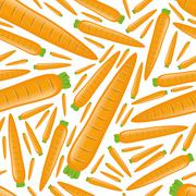seamless carrot pattern - stock illustration