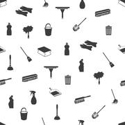 seamless cleaning icons - stock illustration