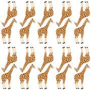 Stock Illustration of seamless giraffe pattern