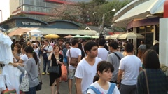 Biggest market in Asia - Jatujak marketplace Stock Footage