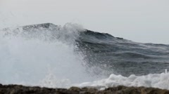 Waves rolling to the shore of Paphos - stock footage