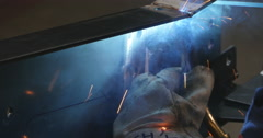 Stock Video Footage of Close up of welding torch Welding