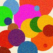 Color circle background - stock illustration