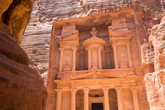 Al Khazneh in Petra, Jordan Stock Photos