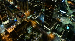 Time Lapse of Downtown LA Power Shut Off at Earth Hour 2015 -Tilt Up- Stock Footage