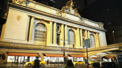 Manhattan Grand Central Station by night Stock Footage
