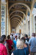 lots of tourists in Hermitage, St. Petersburg - stock photo