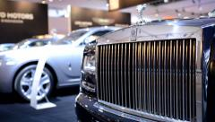 Rolls Royce Ghost front grille Stock Footage