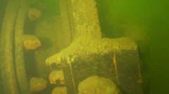 Rusty iron elements shipwreck Stock Footage