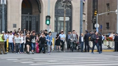 Bbusy Street Traffic in Shanghai, Nanjing road Stock Footage