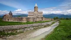 Alaverdi monastery in Kakheti province in Georgia, Caucasus Stock Footage
