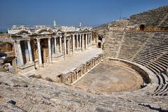 theater in ancient Hierapolis, Turkey - stock photo