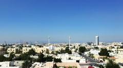 Tracking shot of the city, Dubai, United Arab Emirates Stock Footage