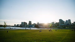 Sunset View from Science World - Vancouver Stock Footage