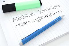 Mobile Device Management - stock illustration