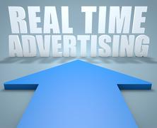 Real Time Advertising - stock illustration
