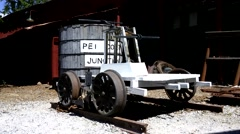 Railroad Maintenance Handcar Stock Footage